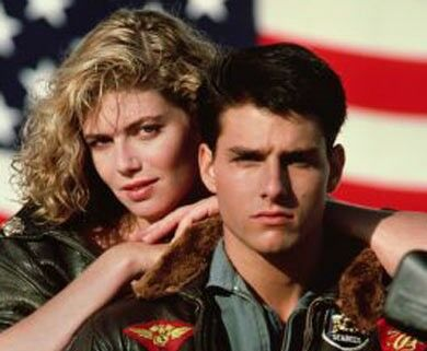 Kelly McGillis et Tom Cruise dans