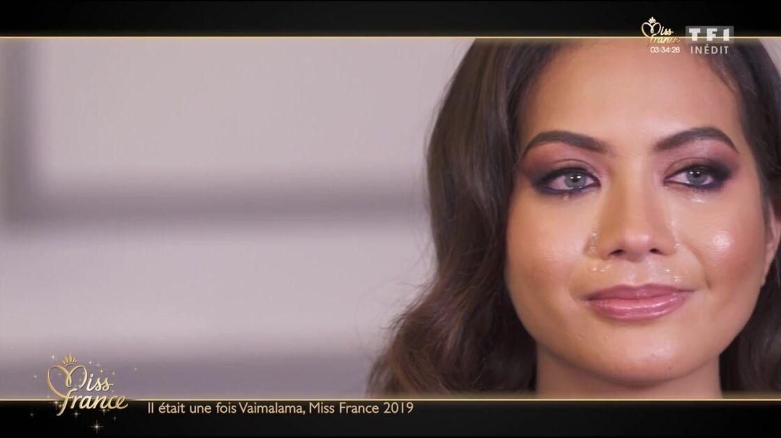 Vaimalama Chaves en larmes évoque les difficultés à être Miss France dans le documentaire de TF1, Il était une fois Vaimalama, Miss France 2019