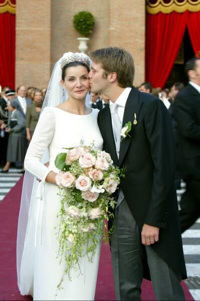 Le 25 septembre 2003, le prince Emmanuel-Philibert de Savoie se mariait avec Clotilde Courau, alors... enceinte de six mois.