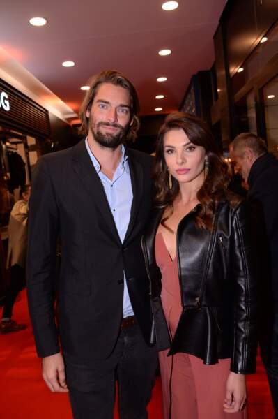 """En octobre dernier, Camille Lacourt et Alice Detollenaere avaient été aperçus à la soirée de réouverture de la boutique parisienne """"Breitling""""."""