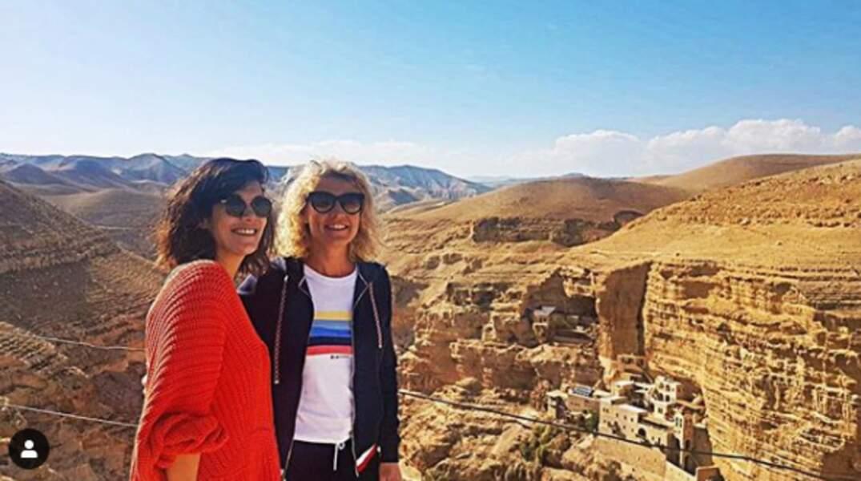 Quelque jours plus tard, Alexandra Lamy était en voyage direction le soleil de Tel Aviv en Israel.