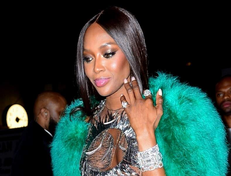 Naomi Campbell et son make up lumineux