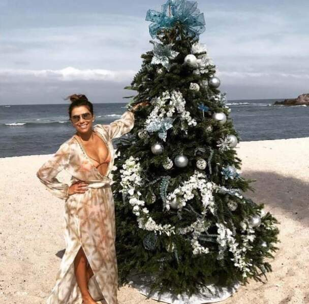 Pour Eva Longoria, le Noël 2018 s'est déroulé à la plage, mais avec un sapin tout de même !