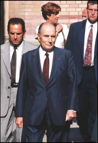 François Mitterrand et Elisabeth Guigou