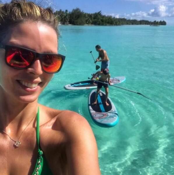 Vacances en famille sous le soleil de Bora Bora pour Sylvie Tellier et sa famille pour fêter la fin de 2018.