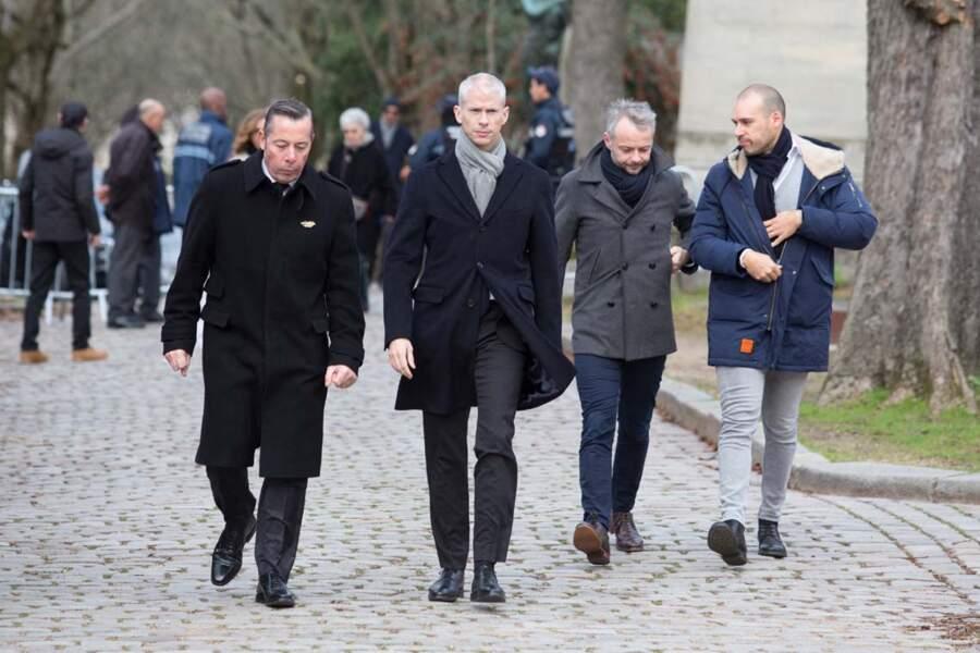 Franck Riester, ministre de la Culture, arrive au cimetière du Père Lachaise.