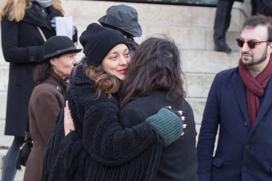 Marion Cotillard aux obsèques d'Anna Karina.