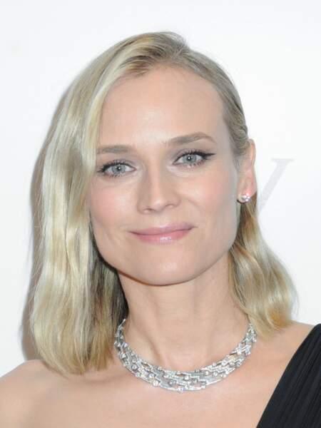 """La coiffure """"one-side"""" comme Diane Kruger"""