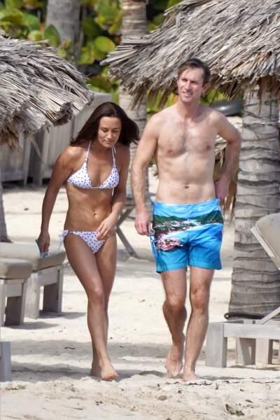 Pippa Middleton en maillot de bain et son mari