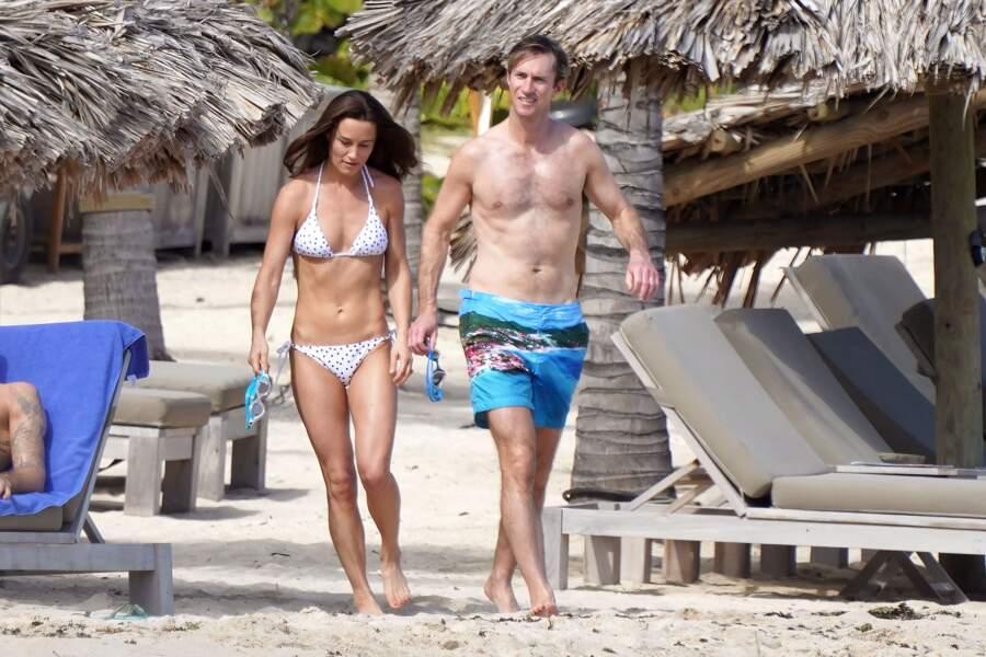 Pippa Middleton, son mari fêtent Noel au soleil