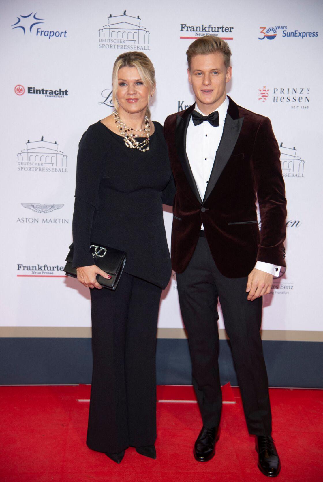 Corinna Schumacher et son fils Mick Schumacher au Red Carpet Show, le 9 novembre 2019