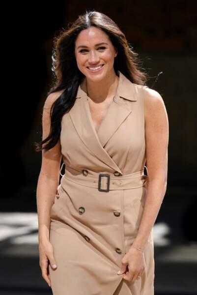Meghan Markle, tout sourire en Afrique du Sud