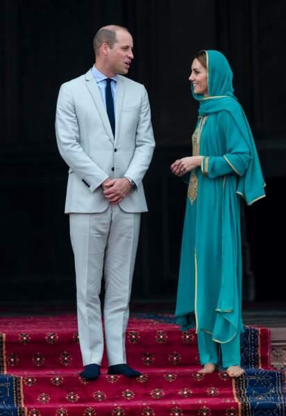 Le prince William et Kate Middleton au Pakistan en octobre 2019