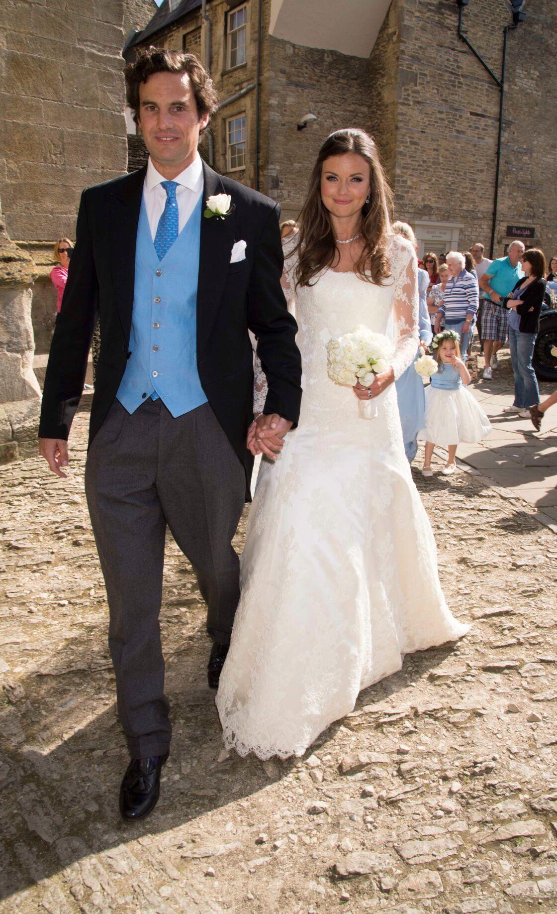 Rupert Finch et Lady Natasha Rufus Isaacs le jour de leur mariage en 2013