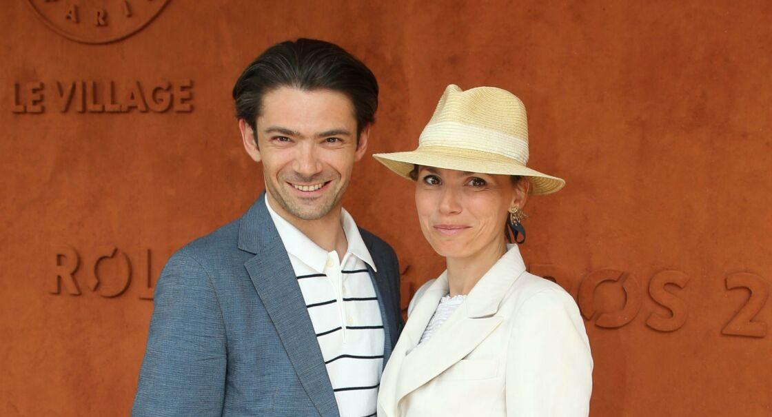 Gautier Capuçon et sa femme Delphine à Roland-Garros, à Paris, en 2019.