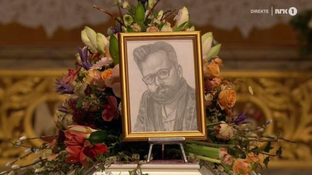L'aînée Maud Angelica a déposé un portrait de Ari Behn qu'elle a dessiné