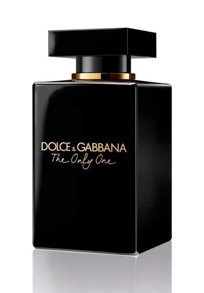 Eau de Parfum The Only One Intense, Dolce & Gabbana, 137 € (disponible en avant-première chez Marionnaud le 23 janvier 2020, sortie nationale en février 2020)
