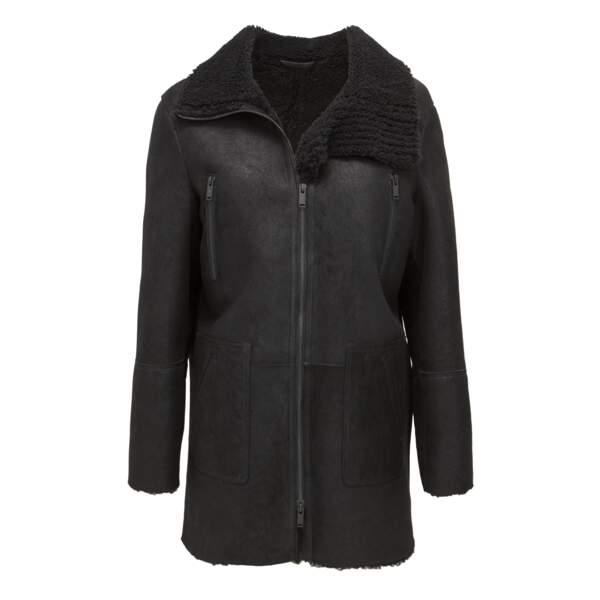 Manteau en peau retournée, 1,190.00 € soldé 952.00 €, IKKS.