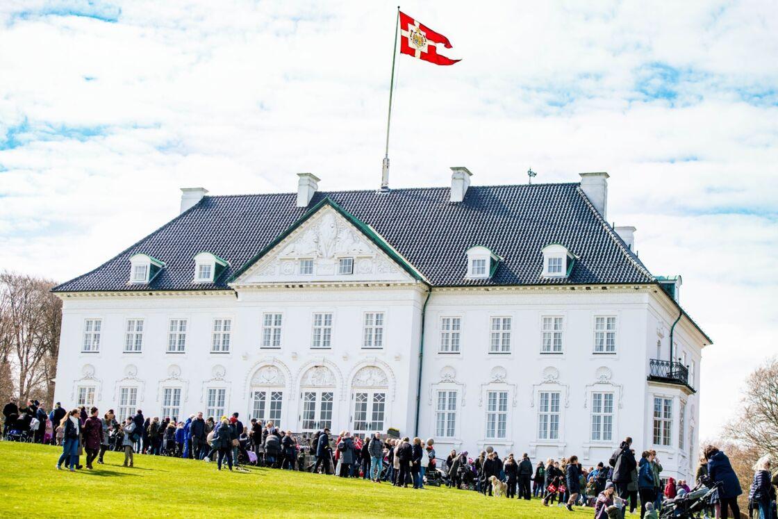 Le château de Marselisborg, résidence d'été de la reine Margrethe, à Aahrus, au Danemark.