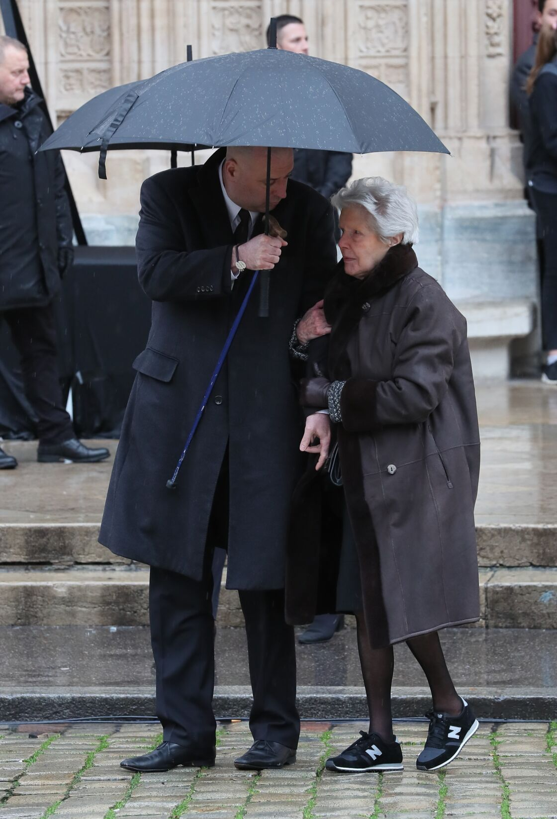 Philippe Bernachon et Raymonde Duvert aux obsèques de Paul Bocuse en la cathédrale Saint-Jean de Lyon, le 26 janvier 2018.
