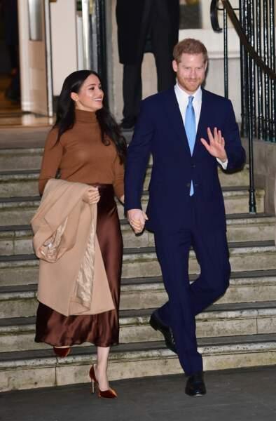 Lors de cette visite, le duc et la duchesse de Sussex paraissaient plus complices que jamais.