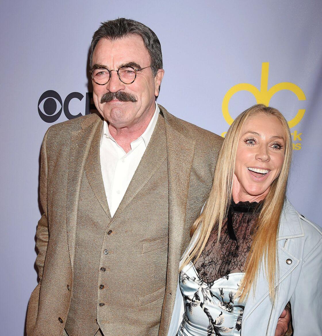 Tom Selleck et sa femme Jillie Mack, au 50e anniversaire du Carol Burnett Show au studio CBS à Los Angeles,, le 4 octobre 2017.