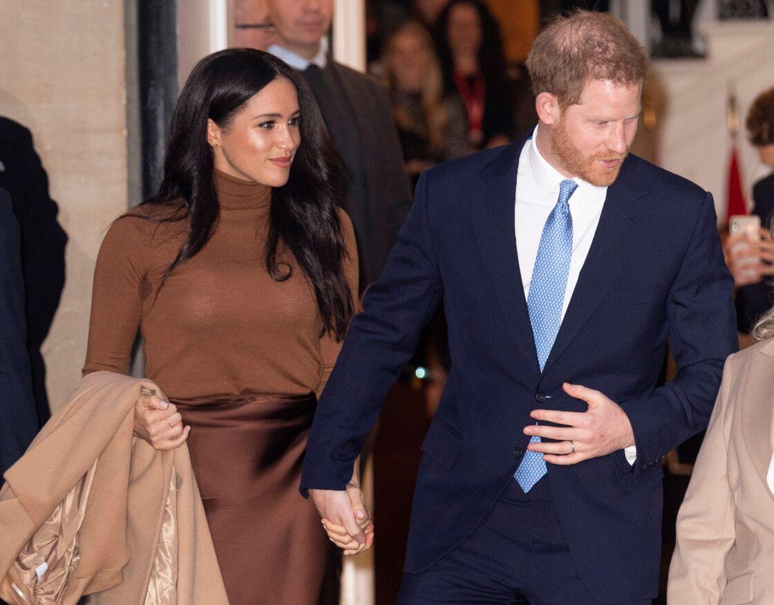 Les époux de Sussex, après leur rendez-vous avec Janice Charette, Haut-Commissaire du Canada en Grande-Bretagne, le mardi 7 janvier 2020.