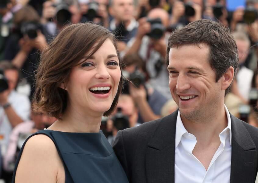 """Guillaume Canet et Marion Cotillard au Festival de Cannes en 2013 pour """"Blood Ties"""""""
