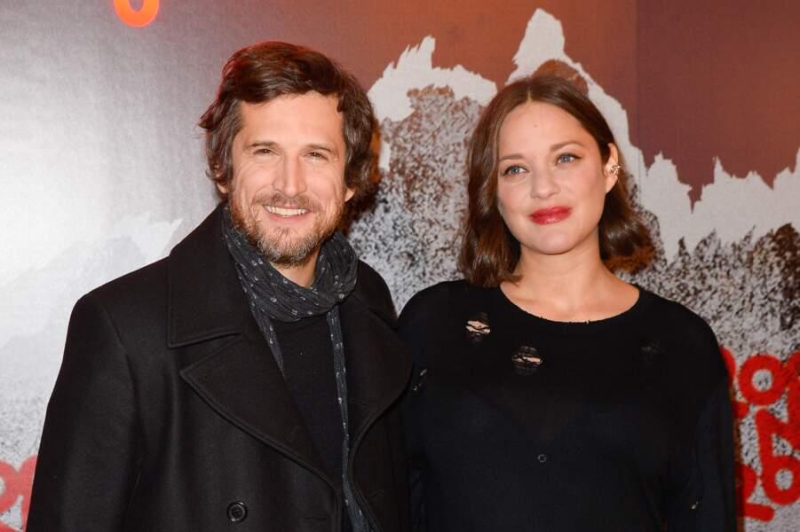 """Guillaume Canet et Marion Cotillard à l'avant-première de """"Rock'n'roll"""" au Pathé Beaugrenelle à Paris, en 2017"""