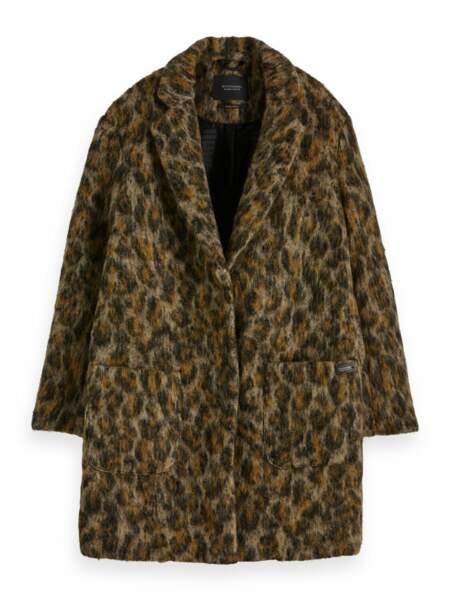 Manteau en laine grattée, 259,00 € soldé 155,00 €, Scotch & Soda.