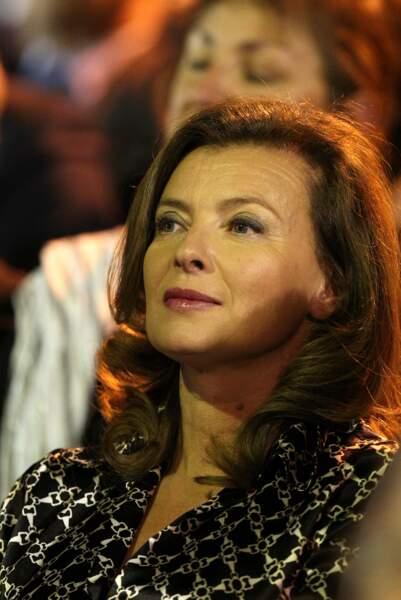 4 avril 2012 : Valérie Trierweiler est au meeting commun entre François Hollande et Ségolène Royal.
