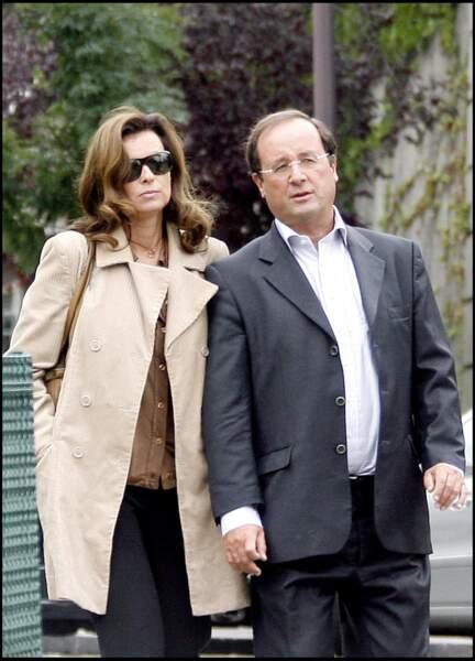 2008 : Valérie Trierweiler et son conjoint François Hollande, quatre ans avant les présidentielles.