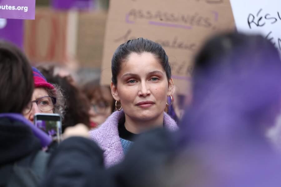 Fin novembre, Laetitia Casta marche contre les violences fait aux femmes... Le froid comme l'indifférence n'auront pas sa peau !