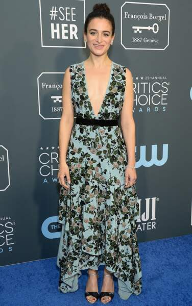 Jenny Slate, l'actrice et ex de Chris Evans, a opté pour un profond décolleté en V.