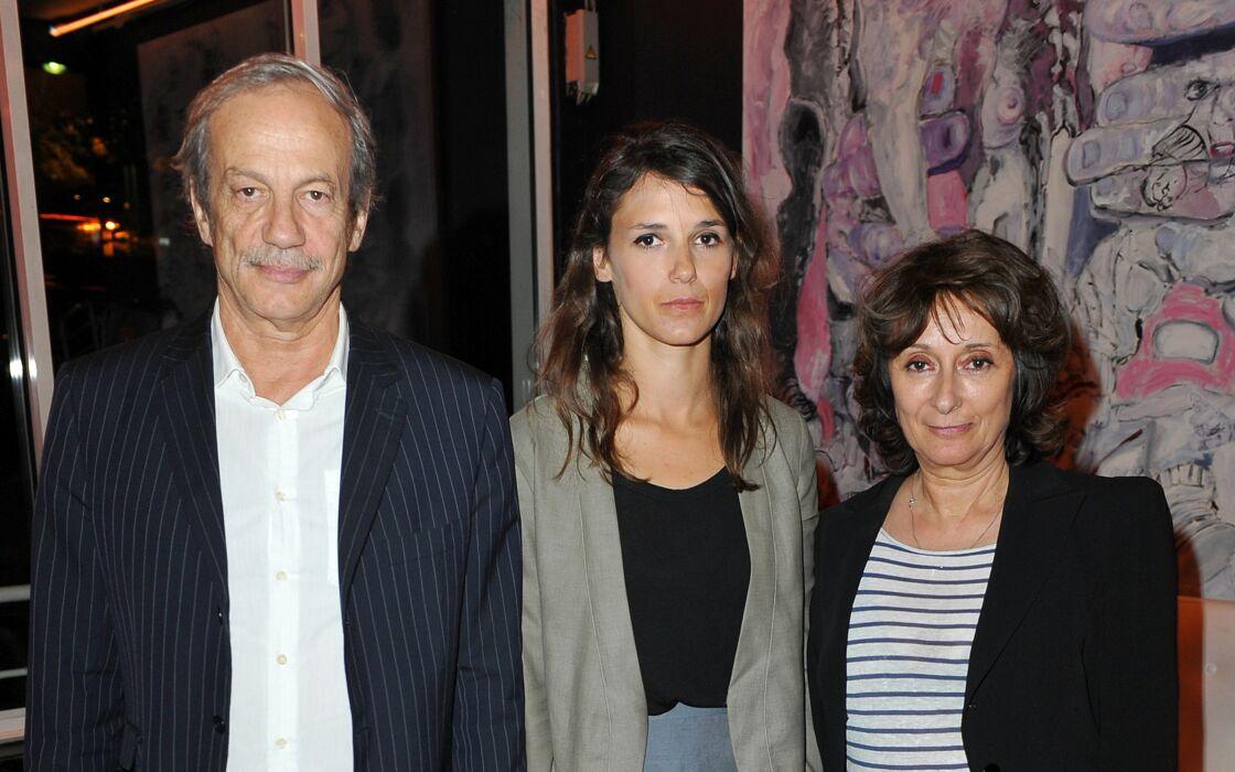 Patrick Chesnais, sa fille l'éctrice Emilie Chesnais, et sa femme Josiane Stoleru, lors d'un événement de l'Association Ferdinand, à Paris, en 2010.