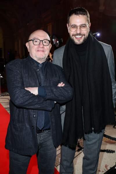 Hakim Jemili (Docteur?) et son parrain Michel Blanc