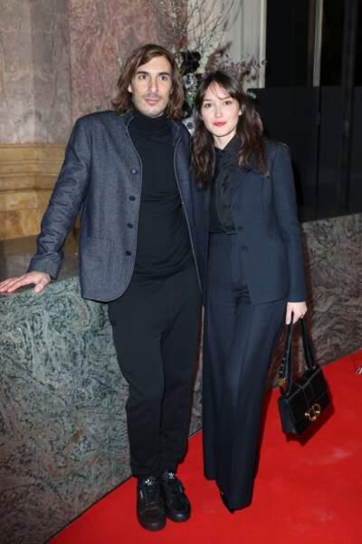 Thomas Scimeca et Anaïs Demoustier (en Dior)