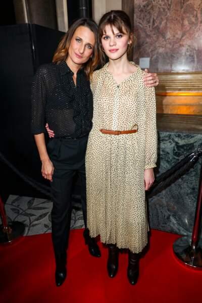 Camille Cottin et sa filleule Céleste Brunnquell (Les Eblouis)
