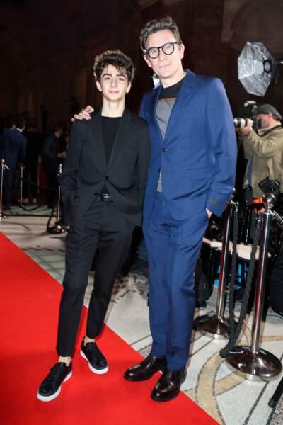 Mathieu Capella (Deux fils) et son parrain Michel Hazanavicius