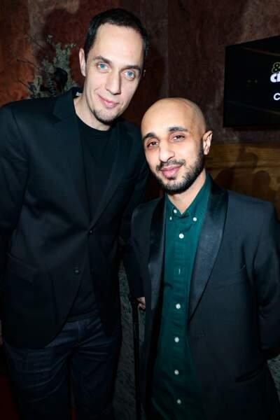 Grand Corps Malade (Fabien Marsaud) et Mehdi Idir, réalisateurs de La Vie Scolaire