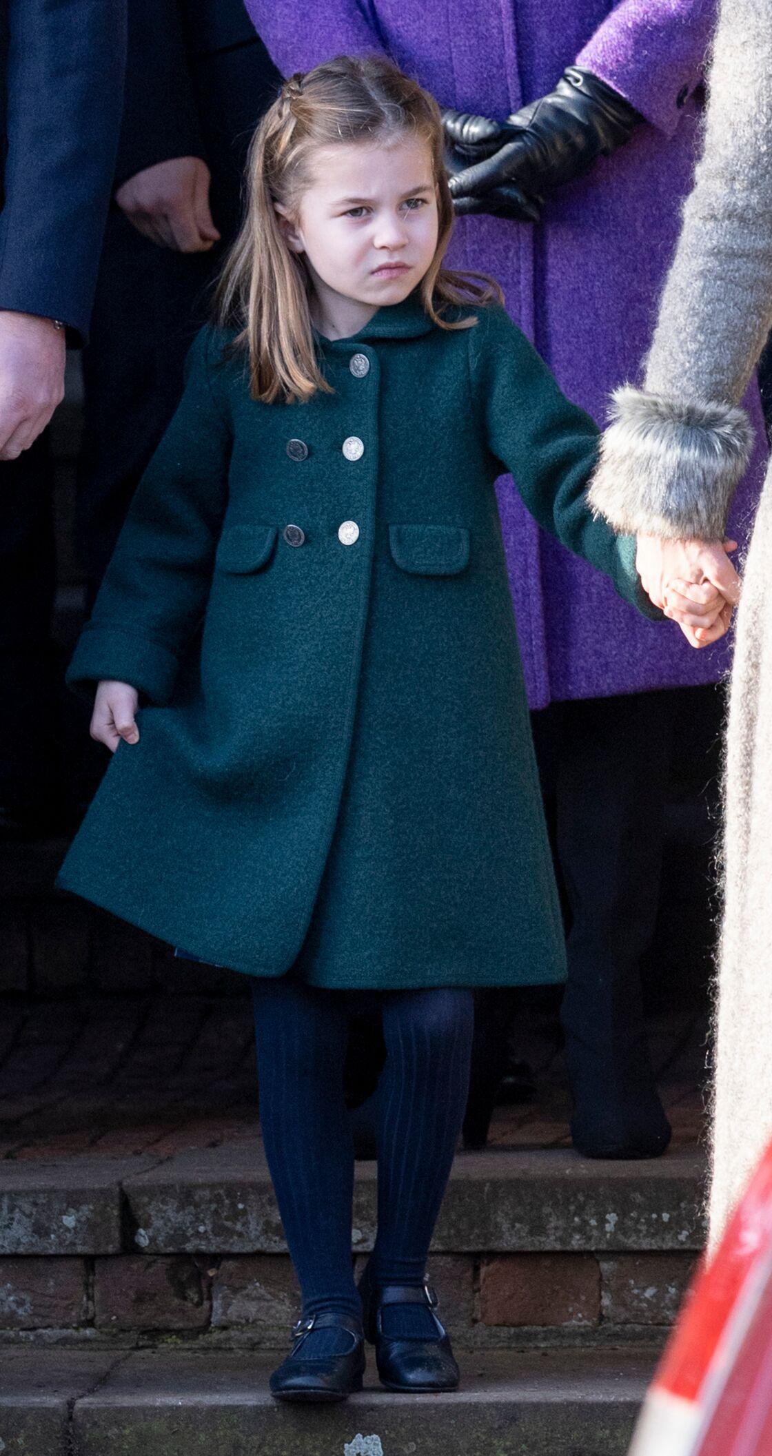 La princesse Charlotte le 25 décembre dernier lors de la messe de Noël à Sandringham, au Royaume-Uni.