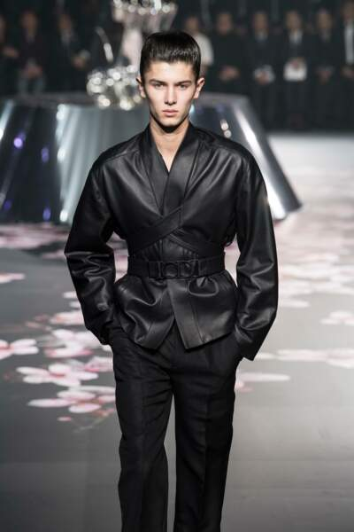 Le prince Nikolaï de Danemark au défilé de mode Dior Homme à Tokio, fin 2018