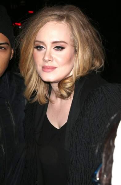 Novembre 2015 : Très jolie avec les cheveux mi-long pour se rendre à un dîner dans le quartier de West Village à New York.