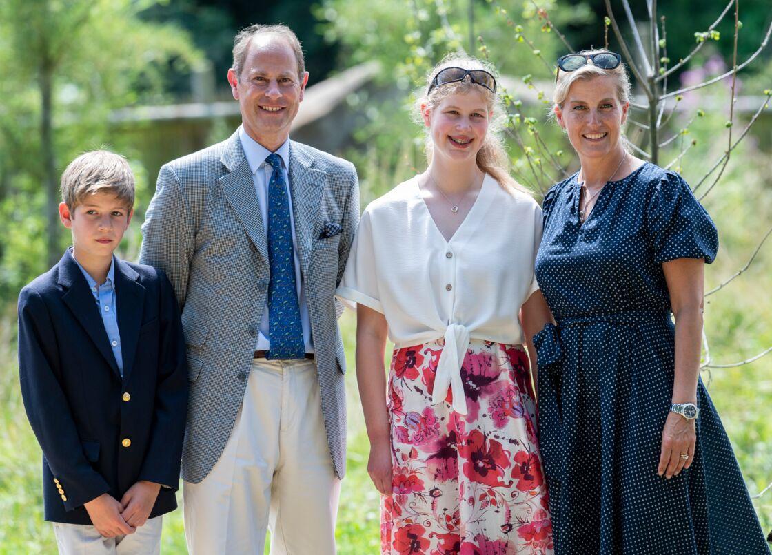 Le prince Edward, Sophie de Wessex et leurs enfants, James et Louise en juillet 2019