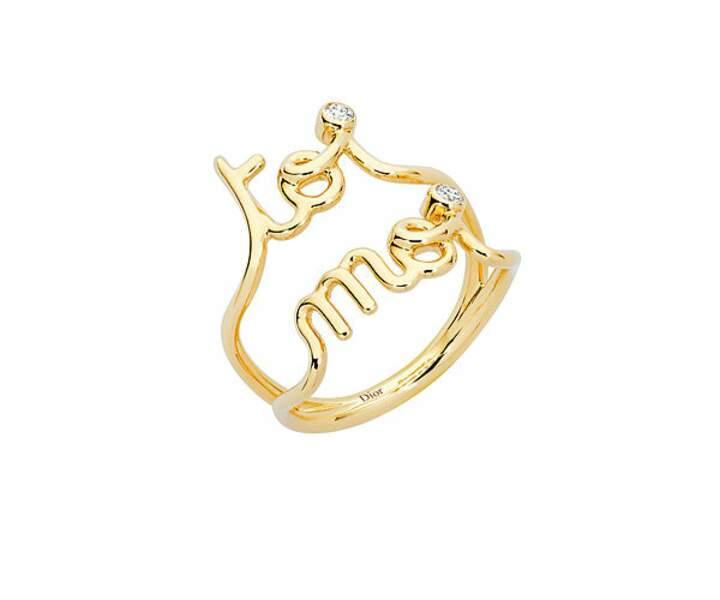 Bague en or jaune et diamants, 1600€, Dior Joaillerie