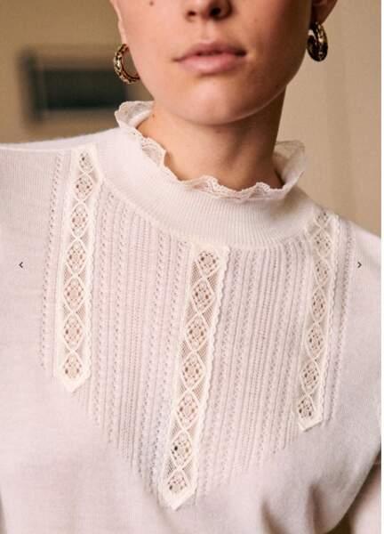 Kate Middleton porte ce pull Tulio Sézane en laine mérinos d'une valeur de 95 €.
