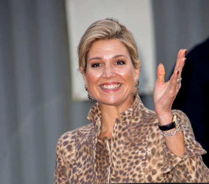 La reine Maxima des Pays-Bas assiste au séminaire digital à Enschede en 2016.