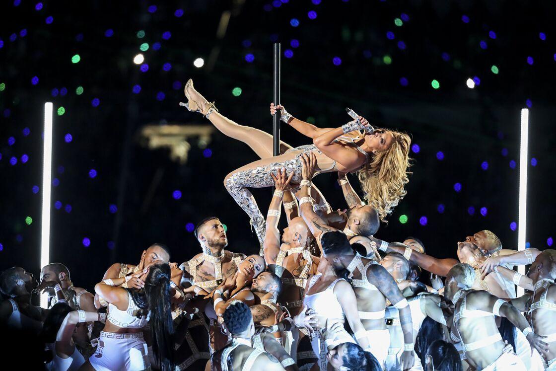 Jennifer Lopez lors du Super Bowl, le 2 février 2020