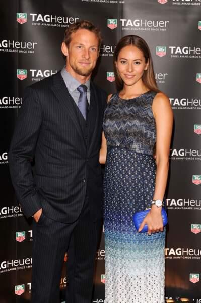 Jenson Button et Jessica Michibata