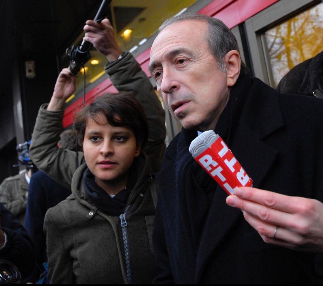 Najat Vallaud-Belkacem et son mentor, Gérard Collomb, en 2008.
